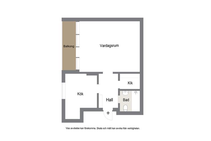 Bild: 1 rum bostadsrätt på Sveagatan 64A, Malmö kommun Limhamn