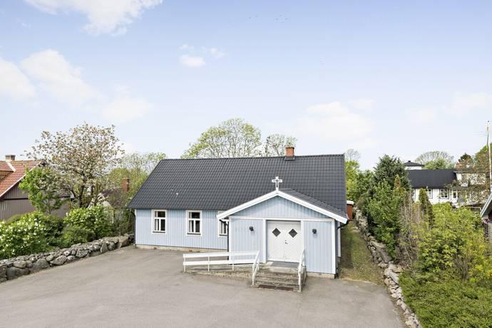 Bild: villa på Rullstensvägen 20, Sölvesborgs kommun Nogersund