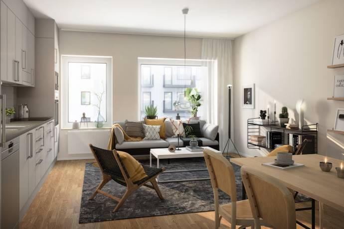 Bild: 3 rum bostadsrätt på Korstörnegatan 9, Göteborgs kommun Centrala Hisingen
