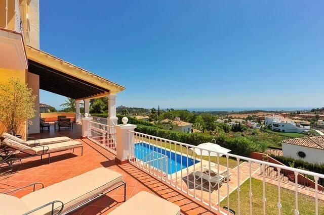 Bild: 7 rum villa på Fin stor villa med havsutsikt, Spanien Marbella - El Paraiso