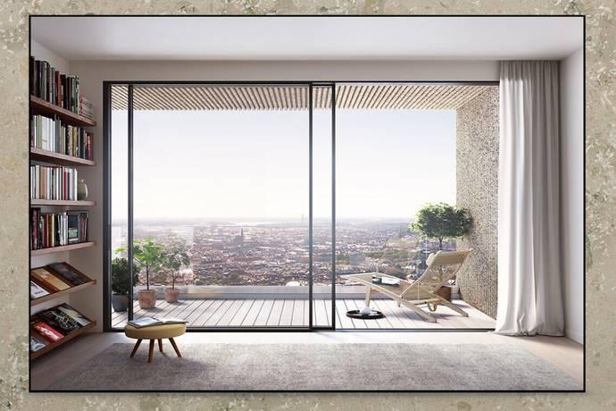 Bild: 2 rum bostadsrätt på Torsgatan 82, plan 20 - Norra Tornen, Stockholms kommun Hagastaden Vasastan