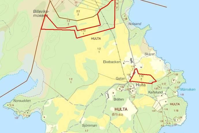 Bild: gård/skog på Tveta Hulta, Säffle kommun Hulta