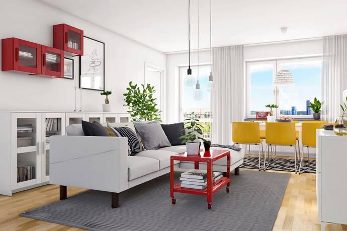 Bild: 4 rum bostadsrätt på Parkvägen 3, Järfälla kommun Barkarbystaden