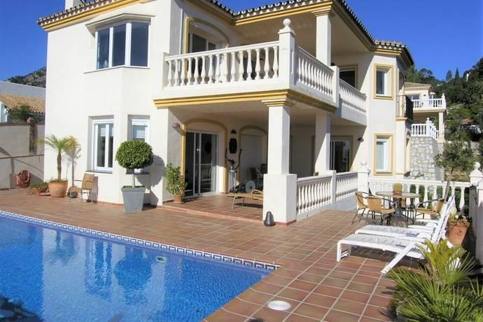 Bild: 5 rum radhus på Vacker villa med havsutsikt, Spanien Mijas