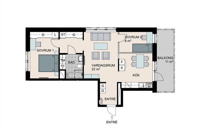 Bild: 3 rum bostadsrätt på Periskopvägen 17, Lidingö kommun Dalénum