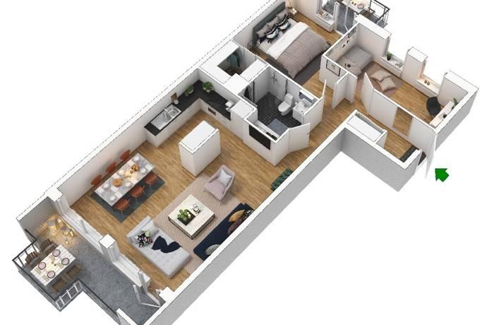 Bild: 3 rum bostadsrätt på Kolsyregatan 20 lgh 544, Malmö kommun Limhamns Sjöstad