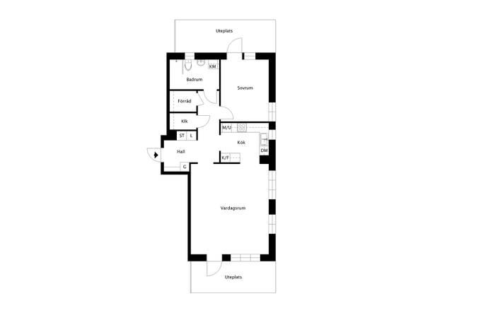Bild: 2 rum bostadsrätt på Garvis Carlssons Gata 22, Solna kommun Råsunda