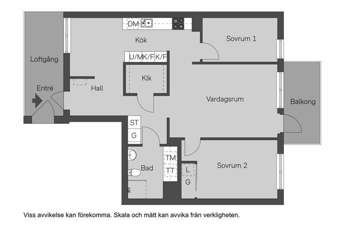 Bild: 3 rum bostadsrätt på Sandalettgatan 7, Stockholms kommun