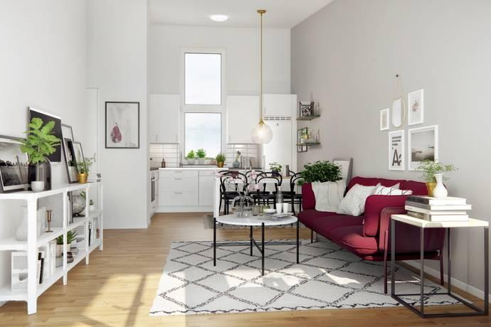 Bild: 3 rum bostadsrätt på Gripengatan 26, Järfälla kommun Barkarbystaden