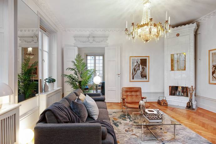 Bild: 4 rum bostadsrätt på Grevgatan 43, Stockholms kommun Östermalm