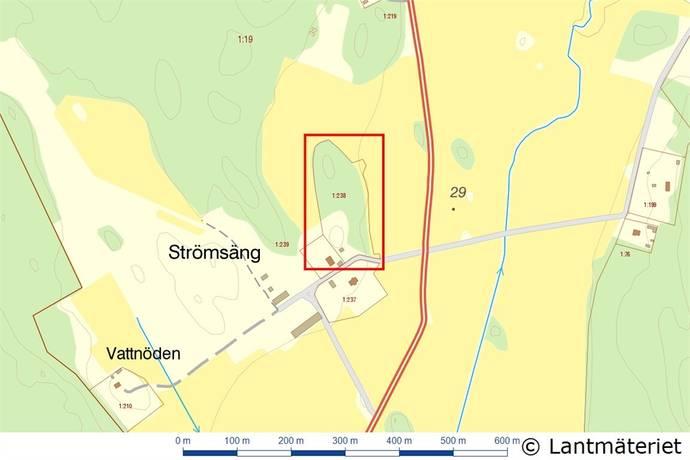 Bild: tomt på Strömsäng, Håbo kommun