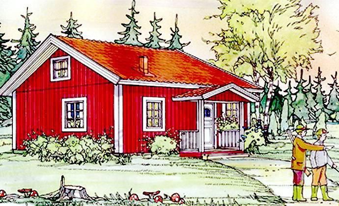 Bild: villa på Tjädervägen 9, 544 92 Hjo, Hjo kommun Långeruder Hjo Västergötland