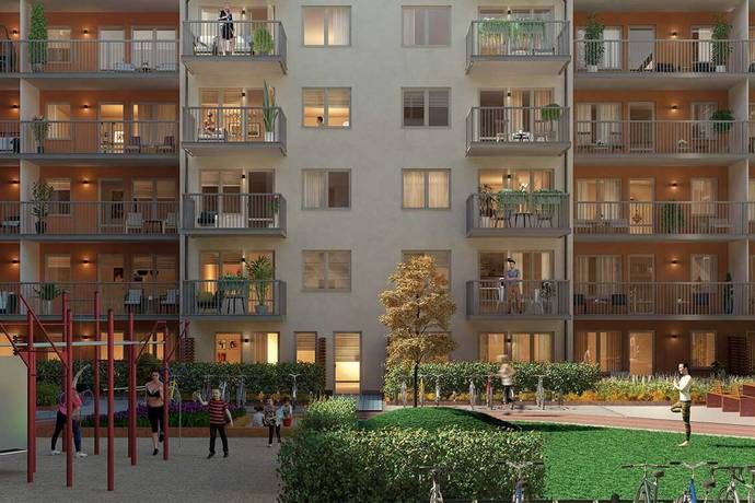 Bild: 4 rum bostadsrätt på Orgelgatan 12, Uppsala kommun Kapellgärdet