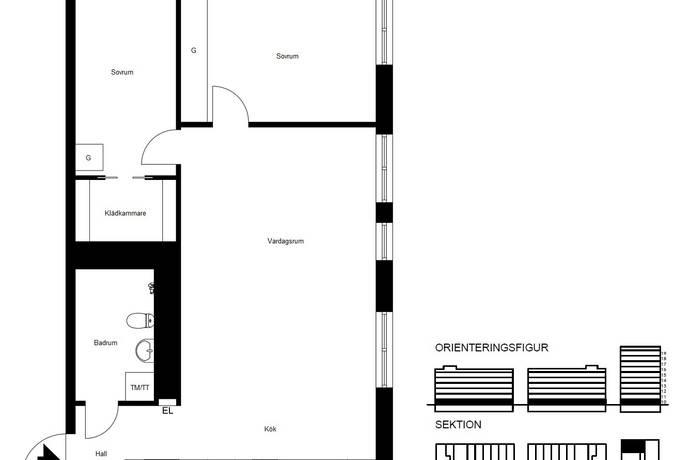 Bild: 3 rum bostadsrätt på Klädesvägen 38, Stockholms kommun Brommaplan