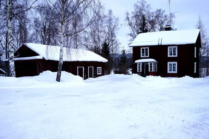 Bild: gård/skog på Myrbo, Hedemora kommun