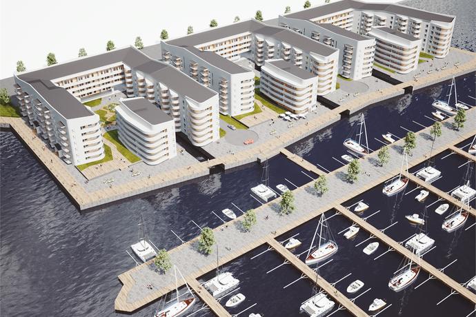 Bild: 3 rum bostadsrätt på Småbåtsgatan, etapp 2, lgh A13, Luleå kommun