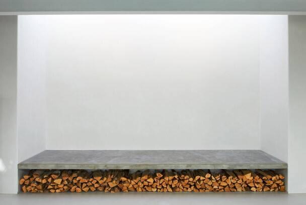 Bilder, Vardagsrum, betong, Vit, ved - Hemnet Inspiration