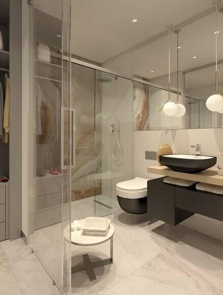 Bilder, Badrum, Dusch, Handfat, Marmor, Modernt, glasvägg - Hemnet Inspiration