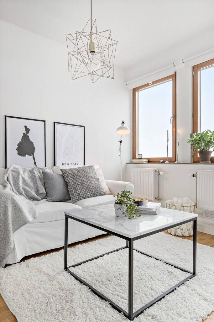 Bilder, Vardagsrum, Marmor, Modernt, Mässing, Soffa, Vit - Hemnet Inspiration